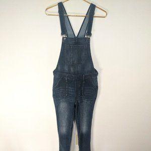 GAP Indigo Wash Size Zipper Skinny Leg Overalls S